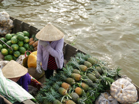 Floating market auf dem Mekong